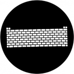 Standardstahlgobo Rosco Brickwall 77719