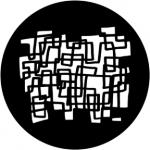 Standardstahlgobo Rosco Eccentric Squares 77910