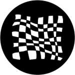 Standardstahlgobo Rosco Chequered Flag 3 78052
