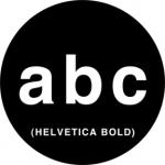 Standardstahlgobo Rosco Helvetica Letters 78059