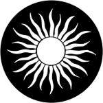 Standardstahlgobo Rosco Grecian Sun 79177