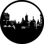 Standardstahlgobo GAM Design Old City Skyline 212
