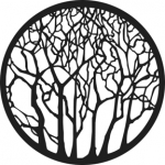 Standardstahlgobo GAM Design Bare Trees 215