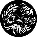 Standardstahlgobo GAM Design Jungle Leaf 217