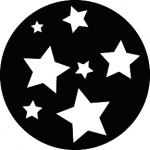 Standardstahlgobo GAM Design Super Stars 244