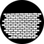 Standardstahlgobo GAM Design Brick Wall 247