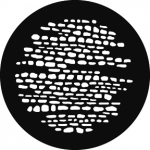 Standardstahlgobo GAM Design Cobblestones 248