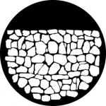 Standardstahlgobo GAM Design Stone Wall 246