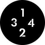 Standardstahlgobo GAM Design Numbers A 299