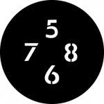 Standardstahlgobo GAM Design Numbers B 300