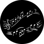 Standardstahlgobo GAM Design Music 302