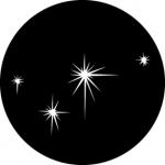 Standardstahlgobo GAM Design Small Evening Stars 314