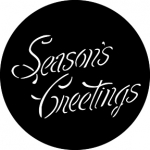 Standardstahlgobo GAM Design Season's Greetings 340