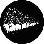 Standardstahlgobo GAM Design Row of trees 363