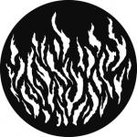 Standardstahlgobo GAM Design Flame 353