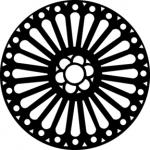 Standardstahlgobo GAM Design Rose Window 375