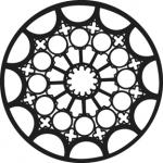 Standardstahlgobo GAM Design Rose Window 376