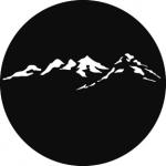 Standardstahlgobo GAM Design Mountain Peaks 380