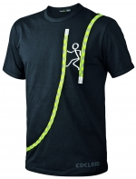T-Shirt Edelrid Rope-T  Chimney  schwarz
