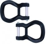 Seitliche Halteösen Edelrid Core Screw D-Kit  schwarz, Zubehör für Core / Core CL