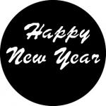 Standardstahlgobo GAM Design Happy New Year 550