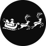 Standardstahlgobo GAM Design Santa's Sleigh 828