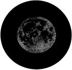 Standardstahlgobo GAM Design Halftone Full Moon T24