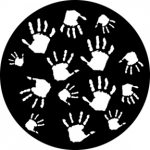 Standardstahlgobo Rosco Handprints 76514
