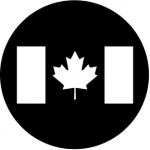 Standardstahlgobo Rosco Canadian Flag 77210  (Design by Leon Rosenthal)