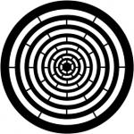 Standardstahlgobo Rosco Concentric Rings 77762 (Design by Jules Fisher)