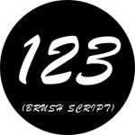 Standardstahlgobo Rosco Brush Script Numbers 78262