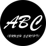Standardstahlgobo Rosco Brush Script Capitals 78264