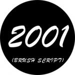 Standardstahlgobo Rosco Brush Script Dates 78265