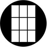 Standardstahlgobo Rosco 3x3 Tall 78486 (Design by Allen Lee Hughes)