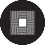 Standardstahlgobo Rosco 9 Square Open 78579 (Design by Tom Seeldraeyers)