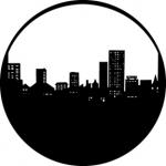 Standardstahlgobo GAM Design City Skyline 211