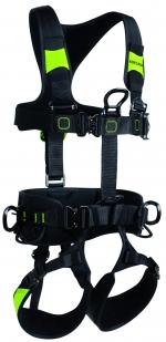 Komplettgurt Edelrid Flex Tower  schwarz-leuchtgrün  Grösse S-M