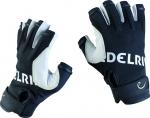 Handschuh Edelrid Work Glove open (fingerlos)  Kalbsleder weiss