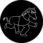 Standardstahlgobo Rosco Comedy Horse 76585